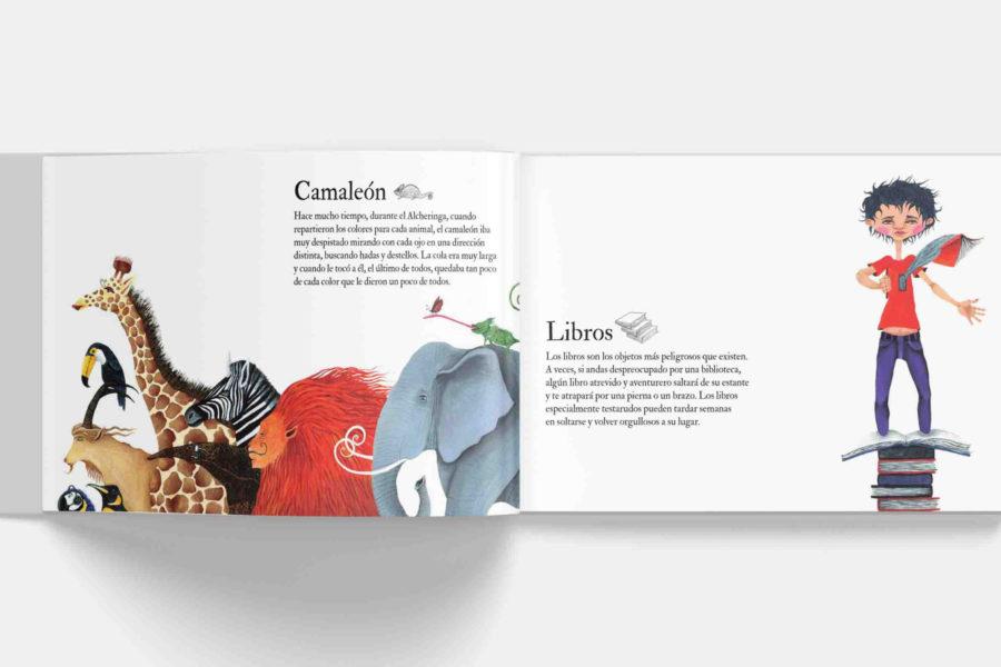 Álbum ilustrado Cosas que nadie sabe editorial Comanegra