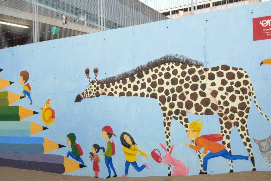 """""""Mural infantil Escuela Marta Mata de Torelló"""""""